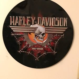 HARLEY DAVIDSON, (button), WALL PLAQUE